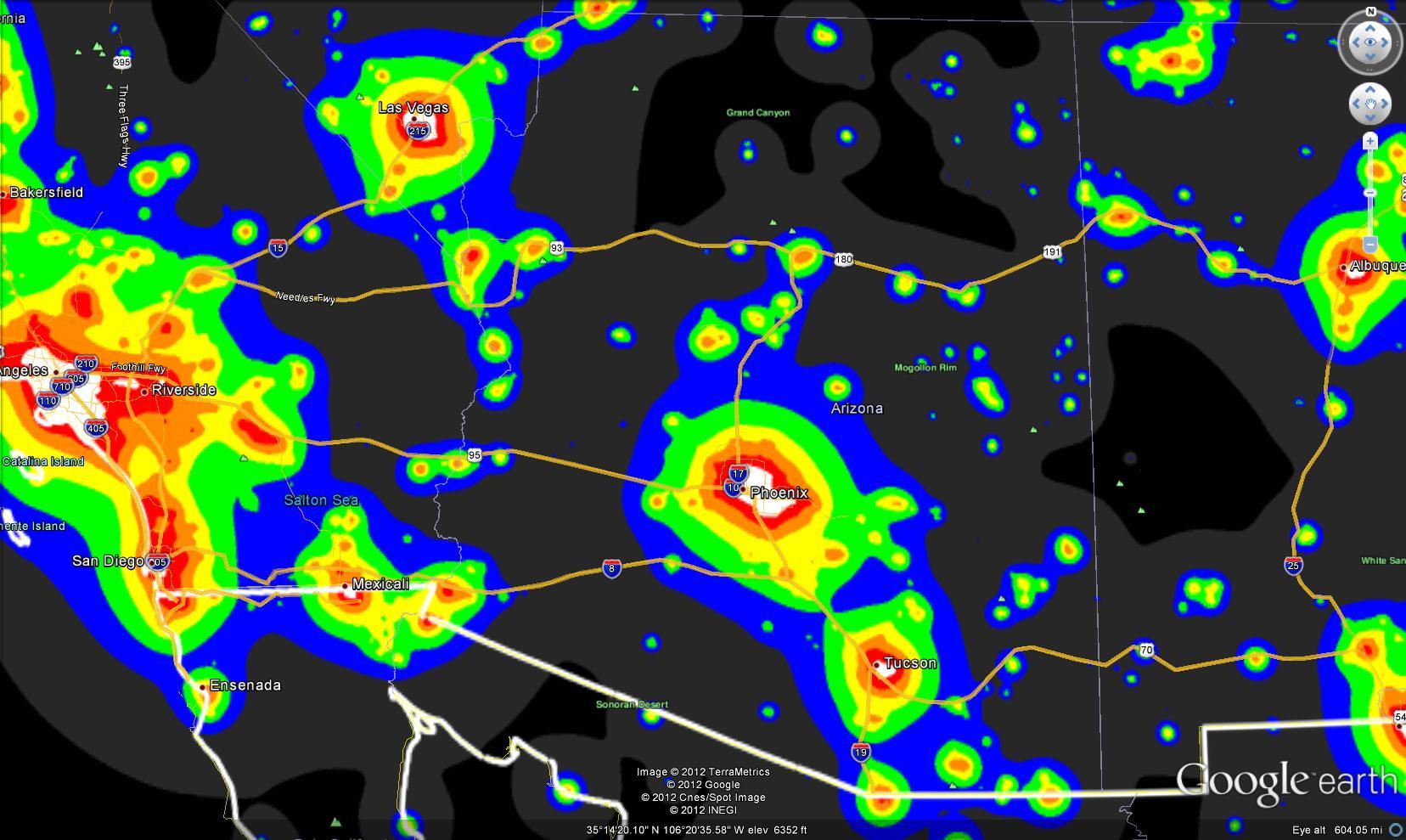Light Pollution Maps