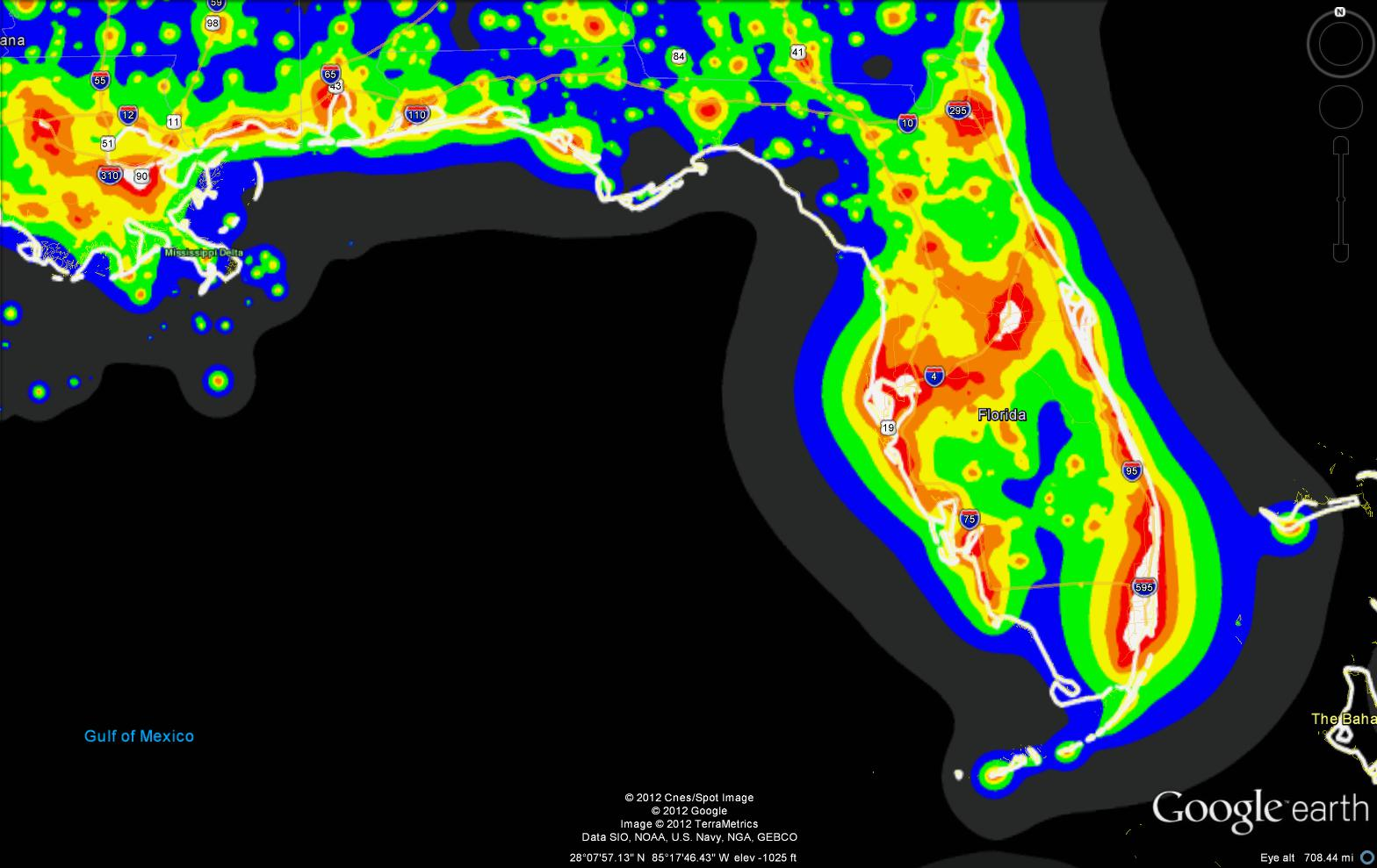 Light Pollution Maps - Us light pollution map